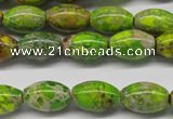 CDI147 15.5 inches 10*15mm rice dyed imperial jasper beads