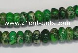 CDI161 15.5 inches 6*10mm rondelle dyed imperial jasper beads