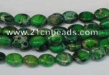 CDI178 15.5 inches 6*8mm oval dyed imperial jasper beads