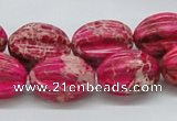 CDI22 16 inches 15*20mm star fruit shaped dyed imperial jasper beads