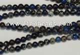 CDI220 15.5 inches 4mm round dyed imperial jasper beads