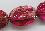 CDI23 16 inches 25*33mm star fruit shaped dyed imperial jasper beads