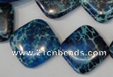 CDI252 15.5 inches 20*20mm diamond dyed imperial jasper beads