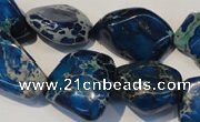 CDI262 15.5 inches 18*20mm nugget dyed imperial jasper beads