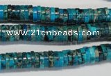 CDI276 15.5 inches 2*8mm heishi dyed imperial jasper beads