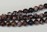 CDI361 15.5 inches 6mm round dyed imperial jasper beads