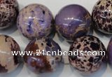CDI368 15.5 inches 20mm round dyed imperial jasper beads