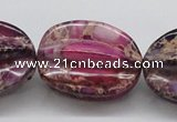 CDI37 16 inches 25*33mm star fruit shaped dyed imperial jasper beads