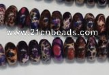 CDI372 15.5 inches 6*12mm rondelle dyed imperial jasper beads