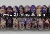 CDI373 15.5 inches 7*14mm rondelle dyed imperial jasper beads
