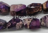 CDI38 16 inches 14*18mm faceted nuggets dyed imperial jasper beads