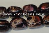 CDI395 15.5 inches 12*16mm nugget dyed imperial jasper beads