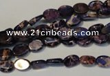 CDI414 15.5 inches 6*8mm oval dyed imperial jasper beads