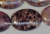 CDI422 15.5 inches 25*35mm oval dyed imperial jasper beads