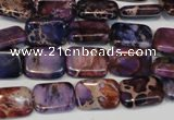 CDI435 15.5 inches 10*14mm rectangle dyed imperial jasper beads
