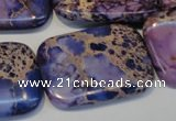 CDI442 15.5 inches 25*35mm rectangle dyed imperial jasper beads
