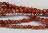 CDI490 15.5 inches 4mm round dyed imperial jasper beads