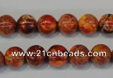 CDI493 15.5 inches 10mm round dyed imperial jasper beads