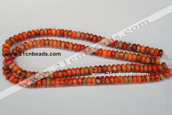 CDI501 15.5 inches 6*10mm rondelle dyed imperial jasper beads
