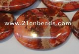 CDI536 15.5 inches 30*40mm oval dyed imperial jasper beads