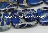CDI57 16 inches 22*30mm rectangle dyed imperial jasper beads wholesale