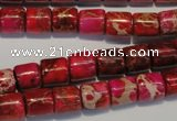 CDI595 15.5 inches 8*8mm tube dyed imperial jasper beads