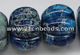 CDI60 16 inches 26*35mm pumpkin dyed imperial jasper beads