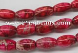 CDI605 15.5 inches 8*12mm rice dyed imperial jasper beads
