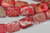 CDI631 15.5 inches 12*16mm rectangle dyed imperial jasper beads
