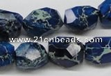 CDI64 16 inches 15*20mm faceted nuggets dyed imperial jasper beads