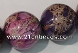 CDI699 15.5 inches 24mm round dyed imperial jasper beads