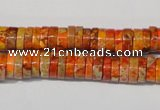 CDI734 15.5 inches 3*8mm heishi dyed imperial jasper beads
