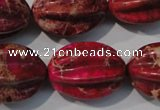 CDI769 15.5 inches 18*25mm star fruit shaped dyed imperial jasper beads