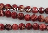 CDI821 15.5 inches 6mm round dyed imperial jasper beads wholesale