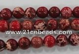 CDI822 15.5 inches 8mm round dyed imperial jasper beads wholesale