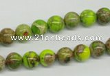 CDI83 16 inches 8mm round dyed imperial jasper beads wholesale