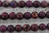 CDI832 15.5 inches 8mm round dyed imperial jasper beads wholesale