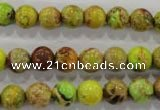 CDI865 15.5 inches 14mm round dyed imperial jasper beads wholesale