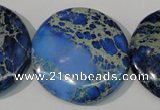 CDI909 15.5 inches 35mm flat round dyed imperial jasper beads