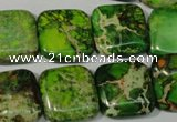CDI946 15.5 inches 18*18mm square dyed imperial jasper beads