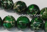 CDI958 15.5 inches 18mm round dyed imperial jasper beads
