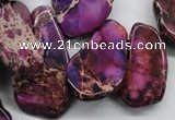 CDI981 15 inches 15*20mm � 25*48mm freeform dyed imperial jasper beads