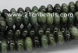 CDJ03 15.5 inches 5*10mm rondelle Canadian jade beads wholesale