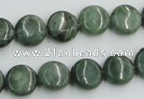 CDJ10 15.5 inches 12mm flat round Canadian jade beads wholesale