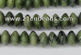 CDJ104 15.5 inches 6*10mm rondelle Canadian jade beads wholesale