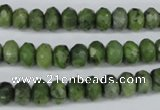 CDJ105 15.5 inches 5*8mm faceted rondelle Canadian jade beads wholesale
