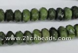 CDJ106 15.5 inches 6*10mm faceted rondelle Canadian jade beads wholesale