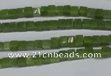 CDJ109 15.5 inches 4*4mm cube Canadian jade beads wholesale