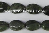 CDJ118 15.5 inches 12*18mm flat teardrop Canadian jade beads wholesale