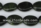 CDJ119 15.5 inches 15*20mm oval Canadian jade beads wholesale